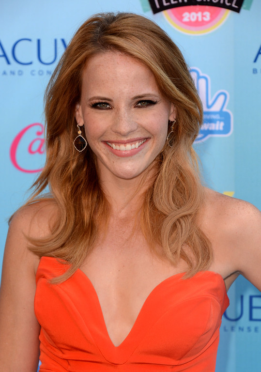 . Katie Leclerc arrives at the Teen Choice Awards at the Gibson Amphitheater on Sunday, Aug. 11, 2013, in Los Angeles. (Photo by Jordan Strauss/Invision/AP)