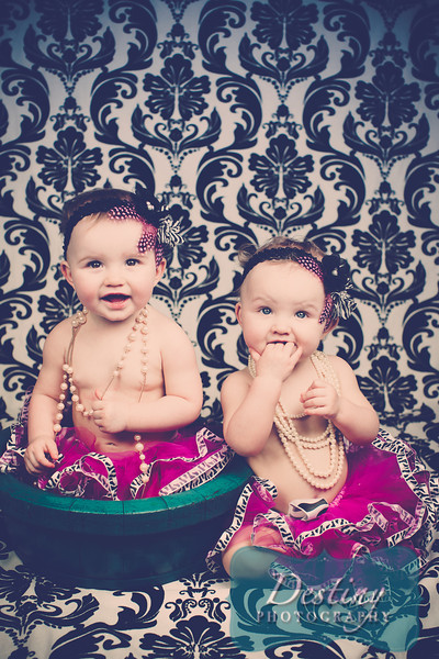 Kinley and Kailey's 1yr Pix