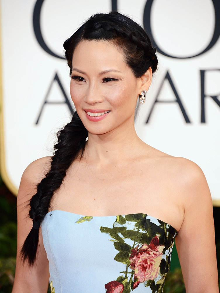 . Actress Lucy Liu arrives at the 70th Annual Golden Globe Awards held at The Beverly Hilton Hotel on January 13, 2013 in Beverly Hills, California.  (Photo by Jason Merritt/Getty Images)
