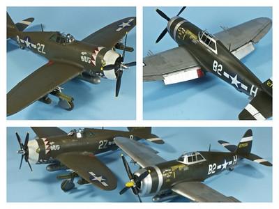 Tamiya-Revell P-47 Double Build