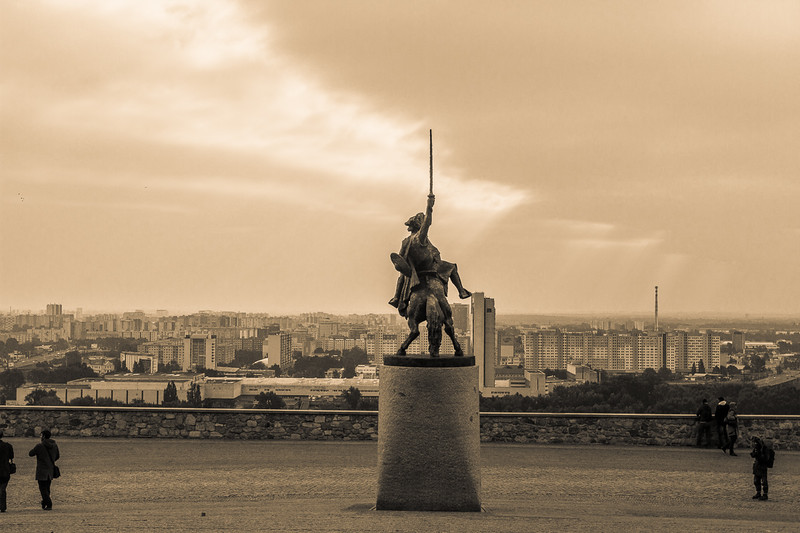 Statue of King Svatopluk, Bratislava, Slovakia