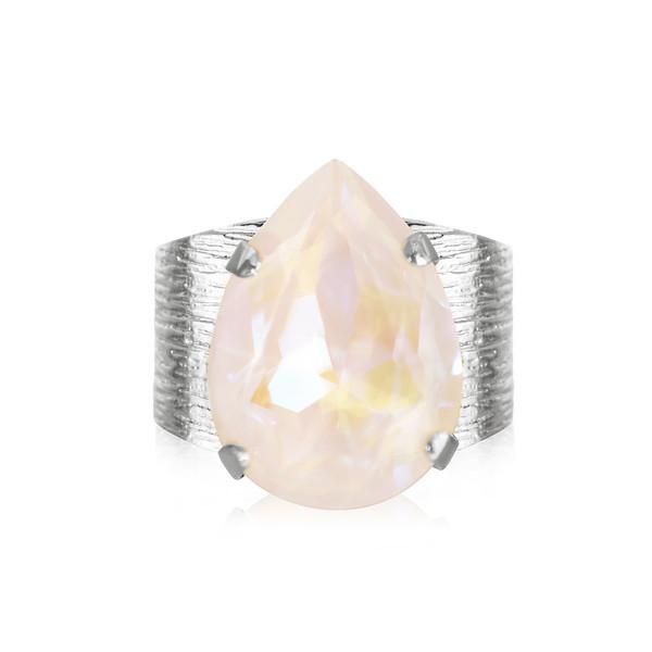 Classic Drop Ring / Light DeLite Rhodium