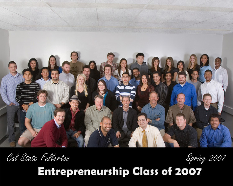 CSUF Entrepreneurship Class Photo - Spring 2007
