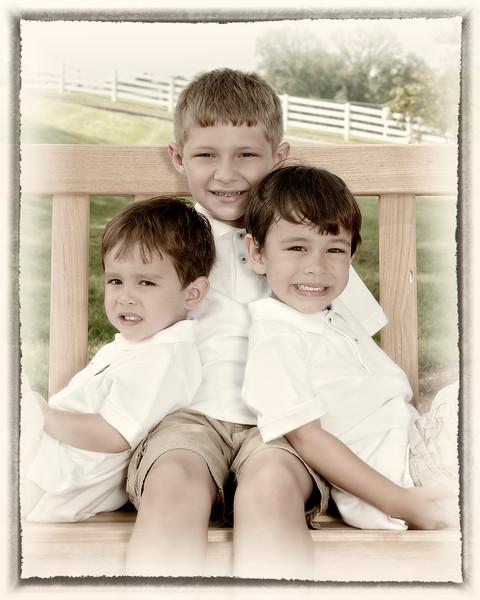 001 Doan Family At Purina Farms 6-11 - Nicholas Dakota Jaden (8x10) framed oldphoto2.jpg