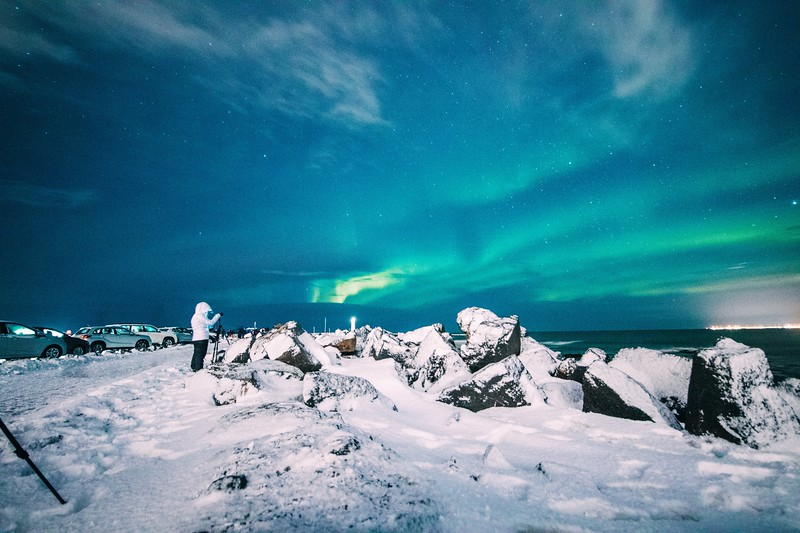 northern lights in iceland - photographing the aurora
