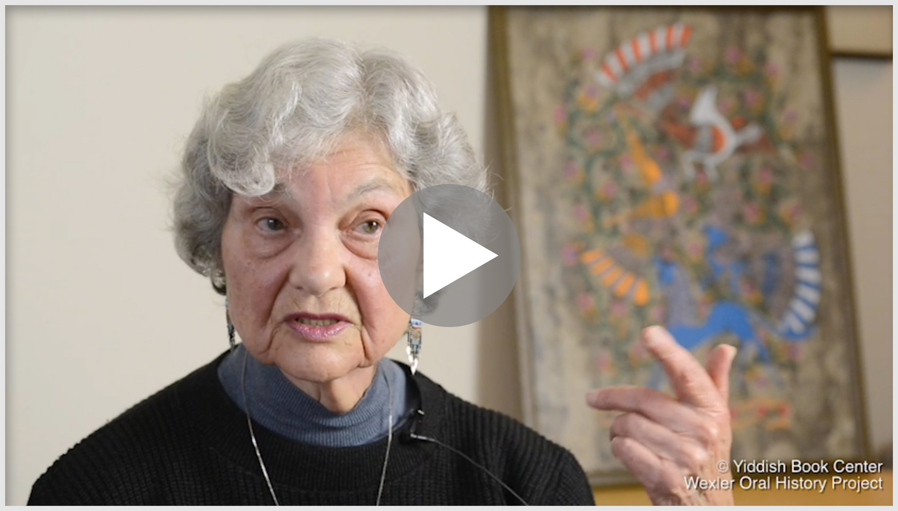 interview of old Jewish woman