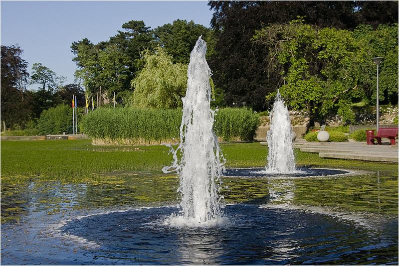 Fountains in Zaventem Lake