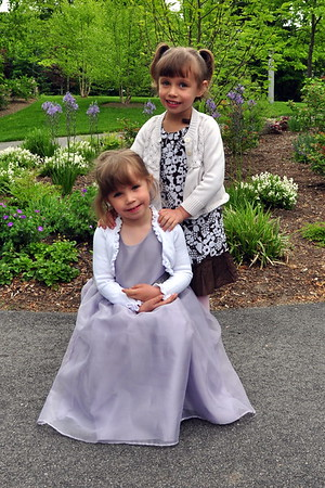 Anya & Cailyn all dressed up for School Photos