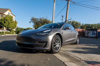 Model 3 - Matte Charcoal Metallic - Vinyl Wrap
