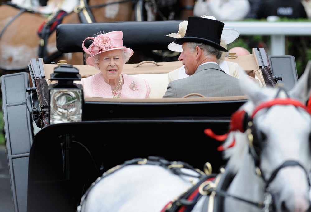 . Queen Elizabeth II & Prince Charles, Prince Of Wales  attends day one of Royal Ascot at Ascot Racecourse on June 18, 2013 in Ascot, England.  (Photo by Stuart C. Wilson/Getty Images for Ascot Racecourse)