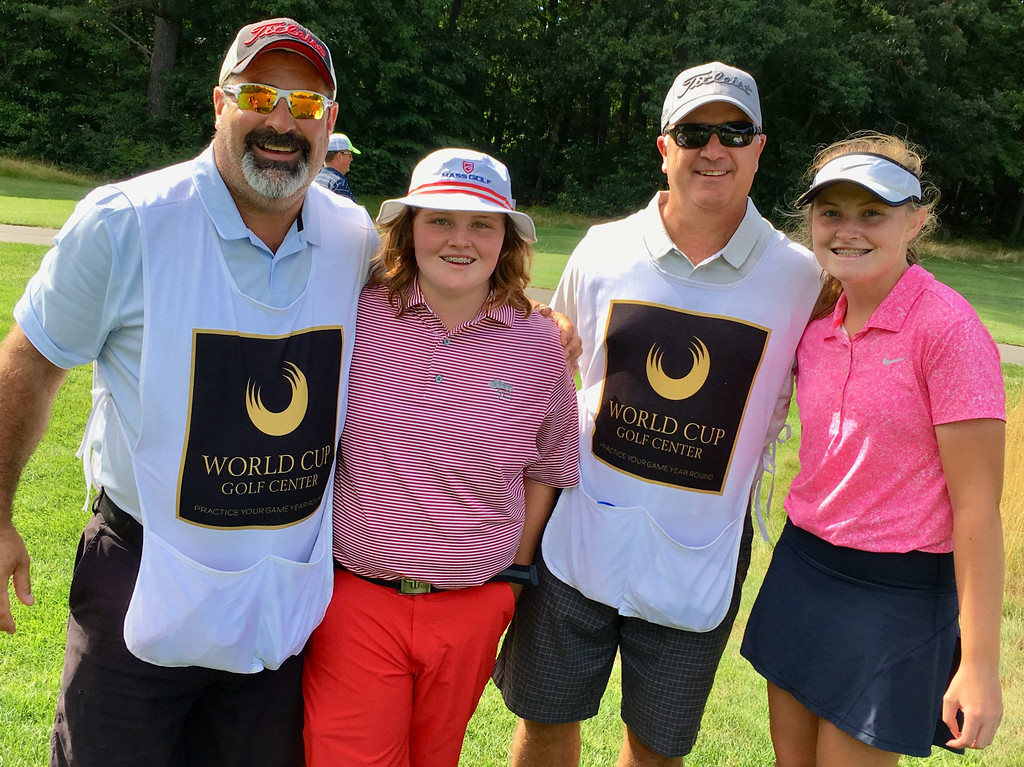 . From left, Keith Stone of Chelmsford, tournament winner Molly Smith of Westford, Brian Milisci of Nashua, and Morgan Smith of Westford