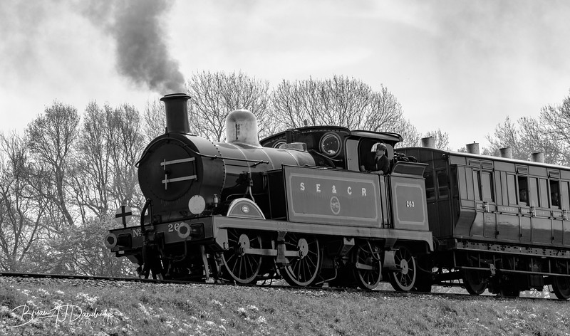 0-4-4T Class H approaches Horsted Keynes