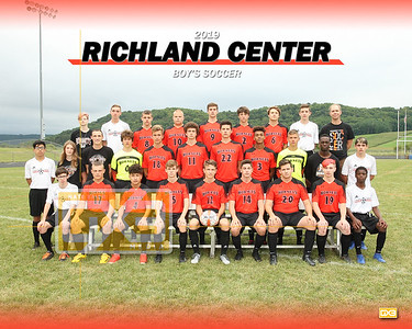 Richland Center boy's soccer BSOC19