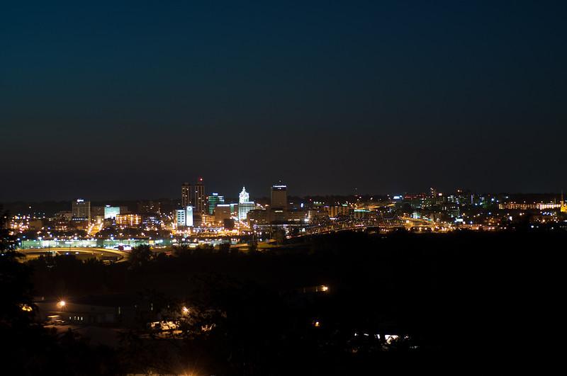 Peoria, IL Skyline at Night #DSC_0004