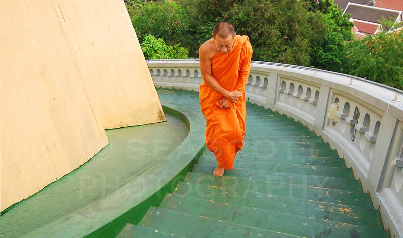 Buddhist temple Wat Saket, Bangkok, Thailand.
