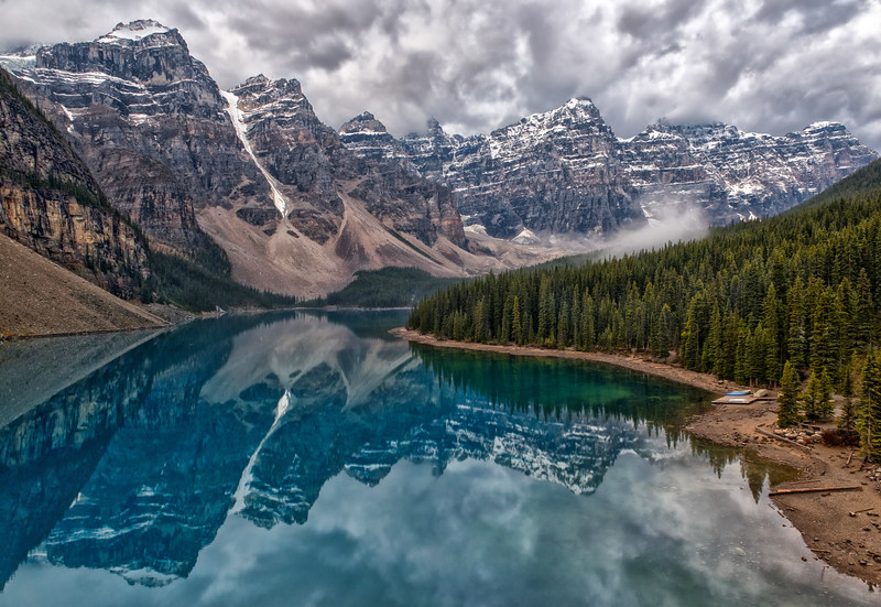 Stormy Lake Moraine Morning