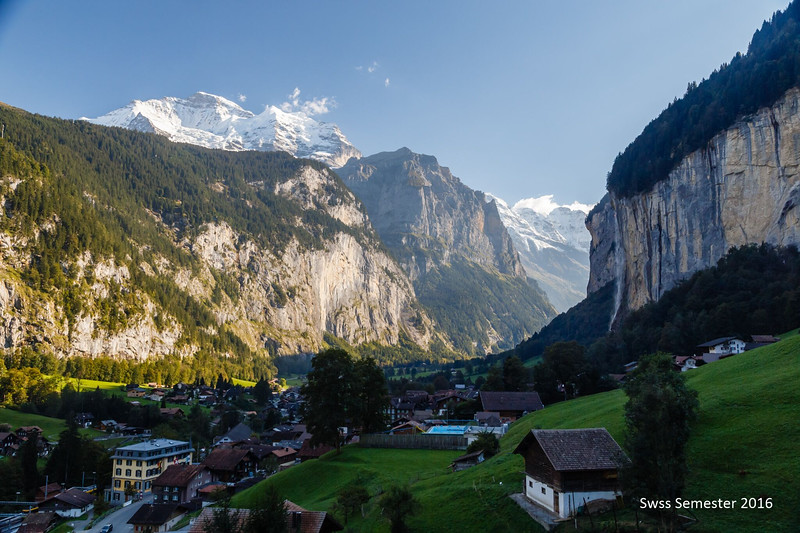 The falls above Lauterbrunnen