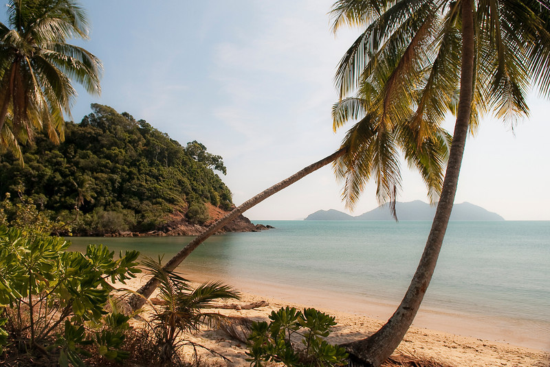 Secluded beach.