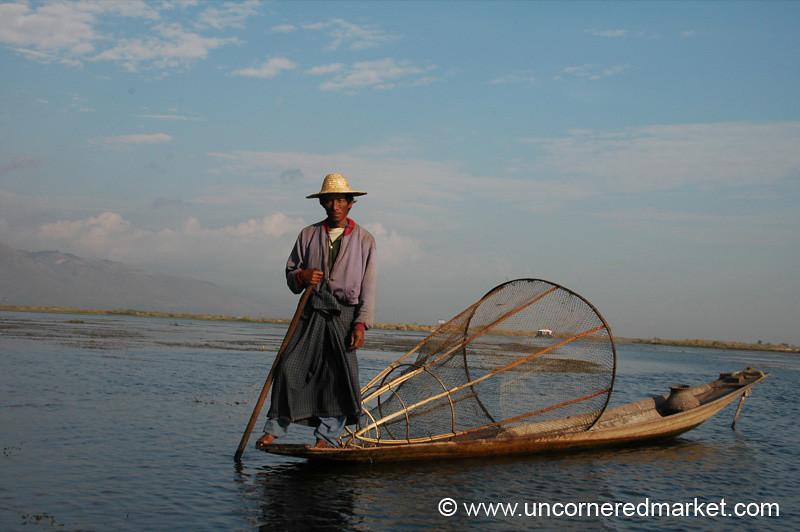 Local Fisherman at Inle Lake - Burma
