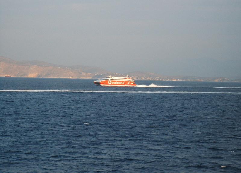 HSC HIGHSPEED 1 sailing from Piraeus to Kyklades.