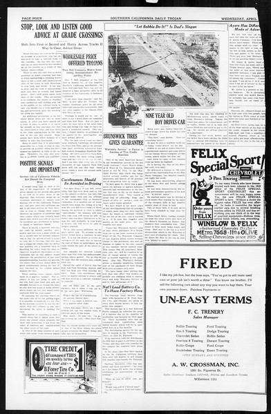 Daily Trojan, Vol. 16, No. 84, April 15, 1925