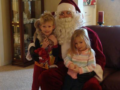 Santa At the Morrison's 08