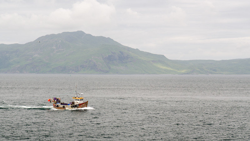 Boats in the Sound of Mull