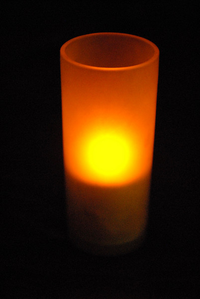 A candle at the Italian restaurant.