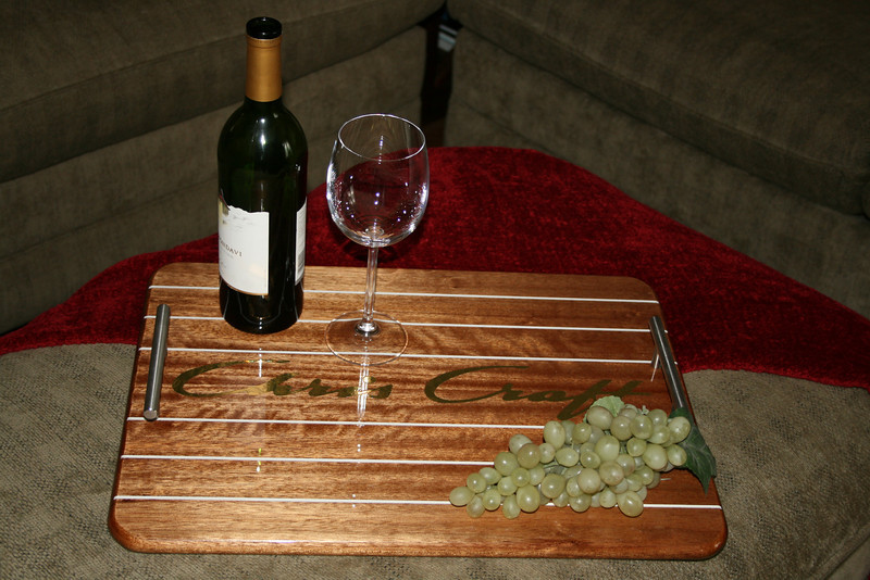 Ottoman tray in use.