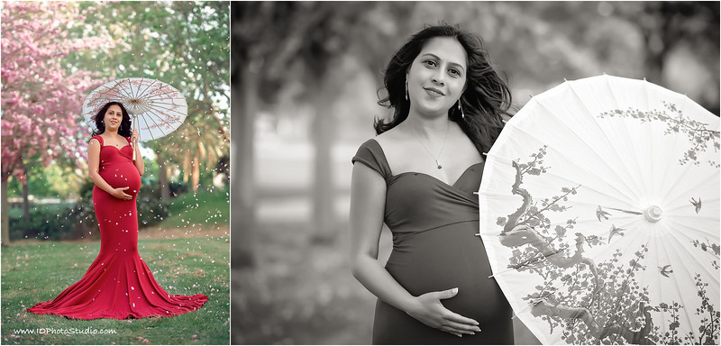 Spring Blossoms Maternity Session - SF Bay Area Photographer