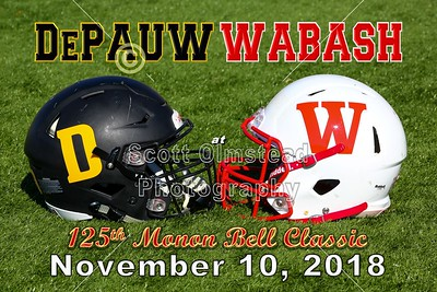 2018 DePauw at Wabash in The 125th Monon Bell Classic (11-10-18)