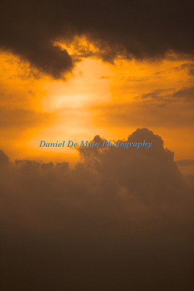 Sunset and Lightning over Eastern Long Island 7-7-12
