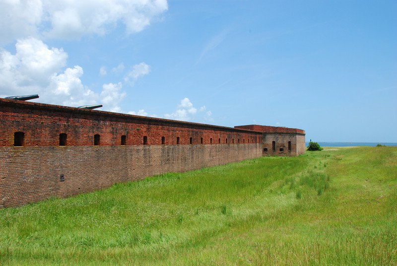 Fort Clinch State Park is located in Fernandina Beach on the northern tip of Amelia Island. The fort was built starting in 1847 and finished in 1867.  The park has an extensive beach area and fishing pier on the Atlantic Ocean along with a beautiful native forest of Live Oaks.