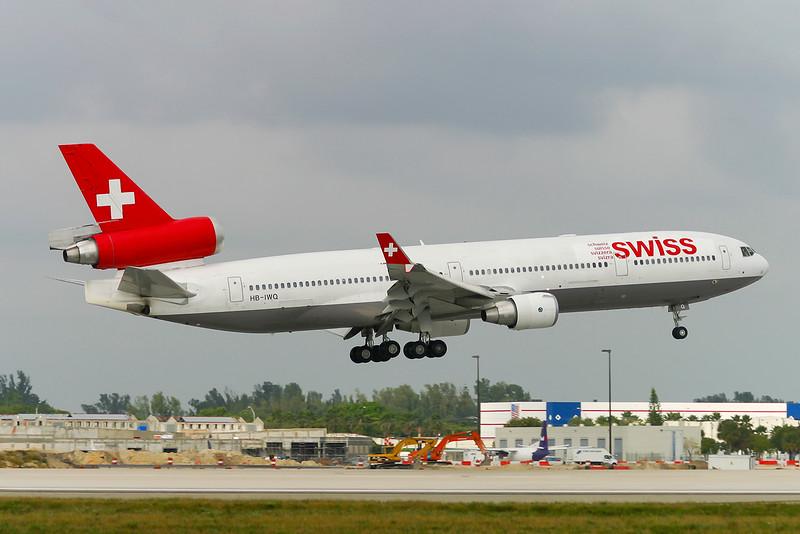 HB-IWQ. McDonnell Douglas MD-11. Swiss. Miami. 081202.