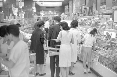 This and the following batch of photos are of the 'American' Supermarket in Tokyo where we, and most of the other foreigners living in Tokyo shopped. We would shop there maybe once a week;  of course the prices were a bit higher!  But it carried a lot of brands we sought! 1965