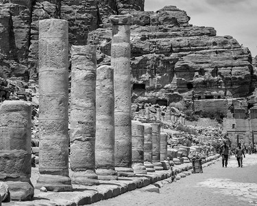 Colonnaded Street and the Monastery