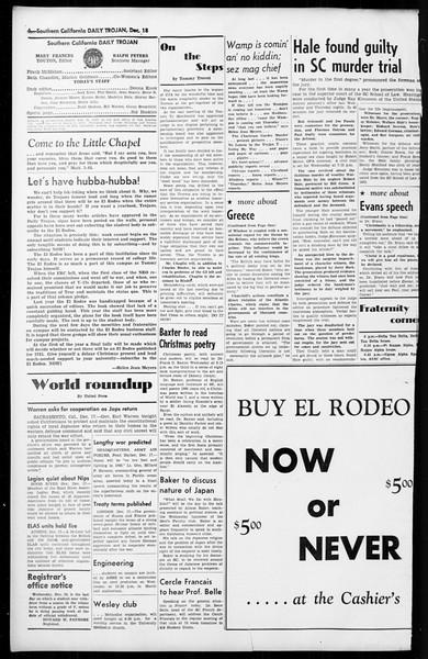 Daily Trojan, Vol. 36, No. 29, December 18, 1944