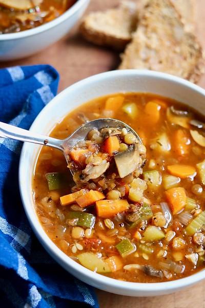 Vegan Italian Recipes - Lentil Soup