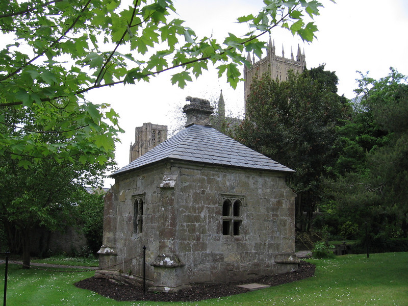 The Well House build in 1451 to supply the town of Wells with water
