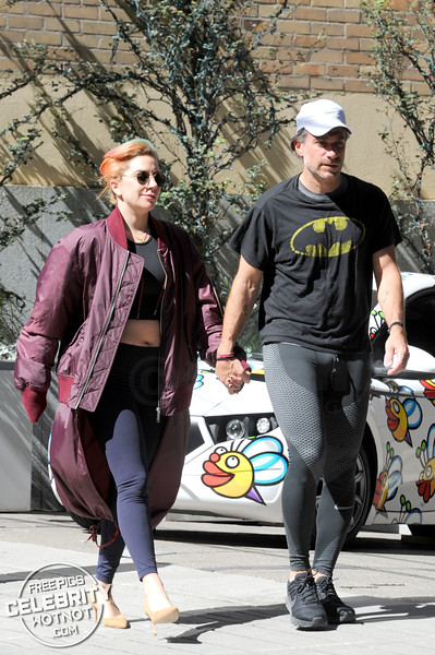 Lady Gaga Exercises In Heels! Mother Monster Debuts Multicolored Hair With Christian Carino!