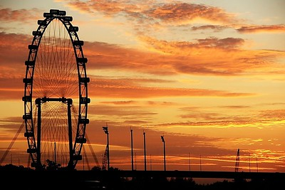 The Singapore Flyer at Sunrise