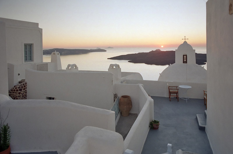 Sunset in Santorini, a must see and life experience in life (January 2007)
