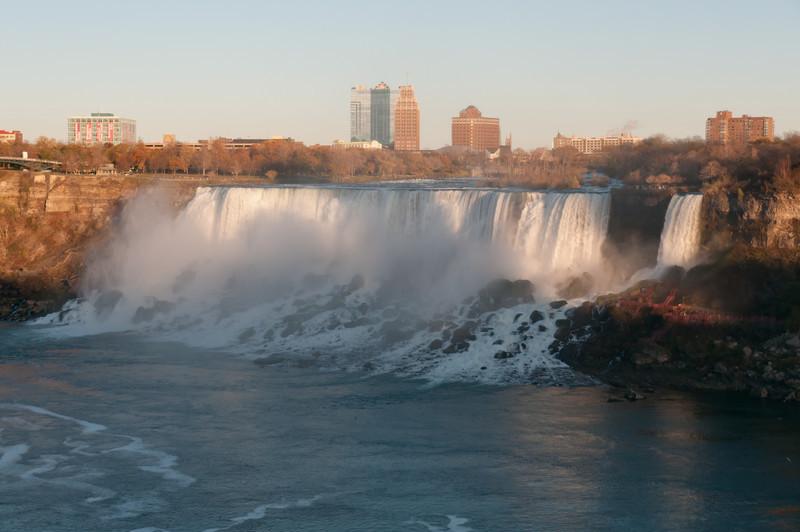 American and Bridal Falls as seen from Skylon Tower, Niagara Falls, Ontario, Canada