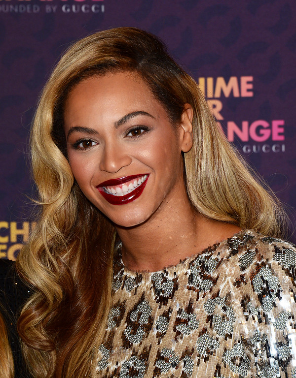 . Beyonce arrives at The Sound of Change Live at Twickenham Stadium in London on Saturday, June 1st, 2013. (Photo by Jon Furniss/Invision/AP Images)