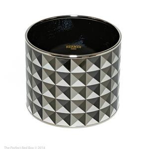 Bracelet Clous en Trompe l'Oeil - Mega Wide GM - Platine - Enamel Silver Plated - NWOCTS - 1312181911