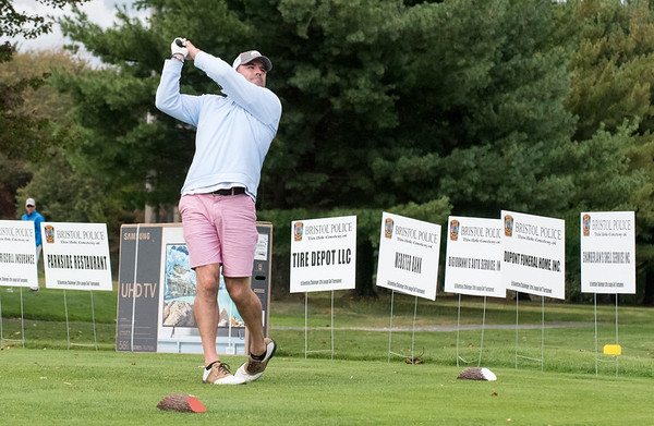 09/24/19 Wesley Bunnell | StaffrrJohn Macdonald tees off during the Ed Beardsley Little League Challenger Golf Tournament at Chippanee Golf Club on Tuesday afternoon.