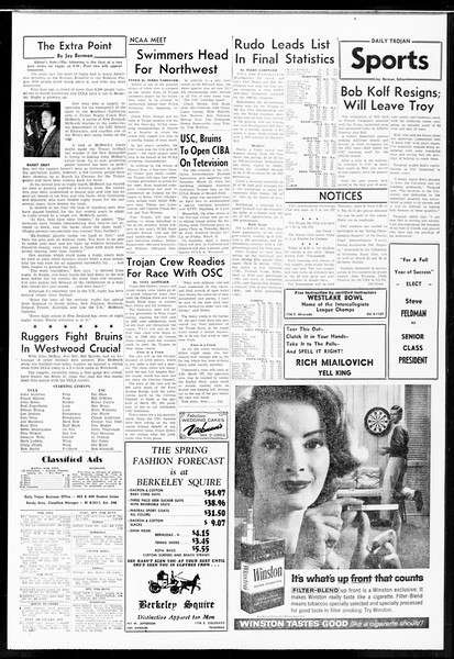 Daily Trojan, Vol. 52, No. 95, March 22, 1961