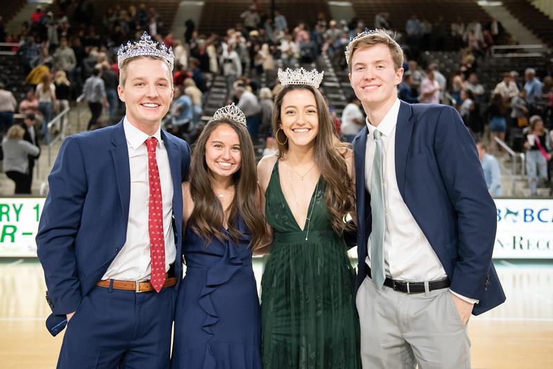 Georgia College Homecoming Court winners.