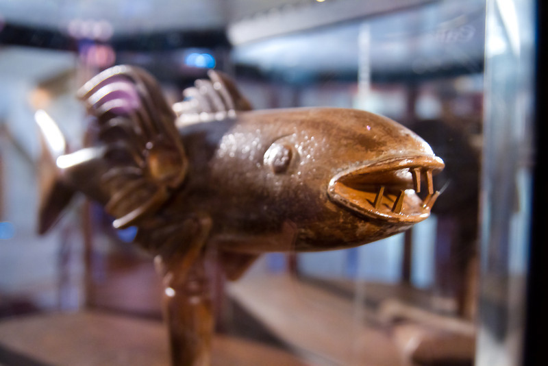 Carved Wooden Fish on The Sailing Ship Columbia