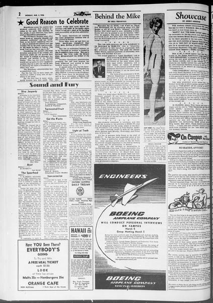 Daily Trojan, Vol. 47, No. 88, March 05, 1956